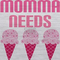 momma needs strawb icecream.png Maternity Tank Top