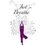 Just Breathe Wall Art Water Bottle