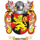 Maites Coat of Arms - Family Crest Water Bottle