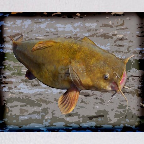 Big Flathead Catfish Throw Blanket by fisheadtackle