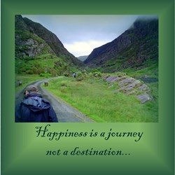 HAPPINESS IS A JOURNEY... Ash Grey T-Shirt