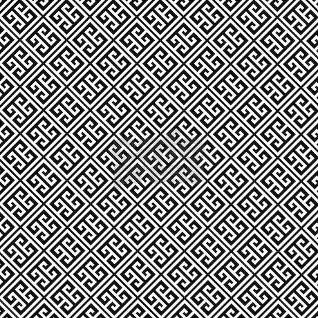 Black And White Greek Key Pattern Queen Duvet By Mcornwallshop