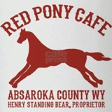 Longmire Red Pony Drinking Glass
