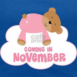 Baby Girl Coming In November Maternity Tank Top