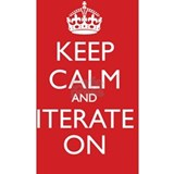 KEEP CALM and ITERATE  Water Bottle