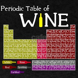Periodic table of wine t shirts shirts tees custom for Custom periodic table t shirts