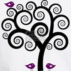 Black & Purple Swirl Tree Shirt