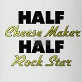 Half Cheese Maker Half Rock Star Drinking Glass