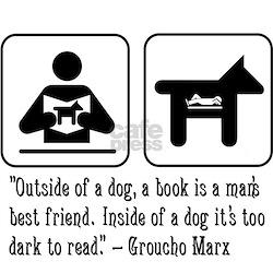 Book man's best friend Groucho Marx Maternity Tee