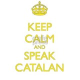 Keep Calm and Speak Ca Water Bottle