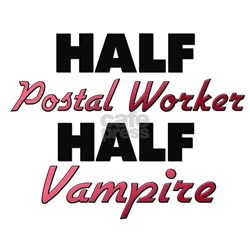 Half Postal Worker Half Vampire T-Shirt