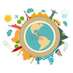 World Travel Landmarks Infant T-Shirt