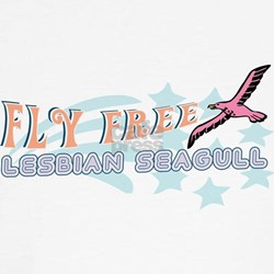 Fly Free Lesbian Seagull Tee