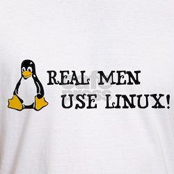 Penguin T-Shirt - Real Men Use Linux Shirt