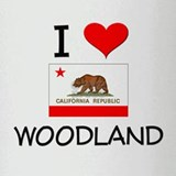 I Love Woodland California Drinking Glass