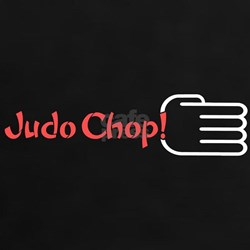 JUDO CHOP! Women's Black T-Shirt red design