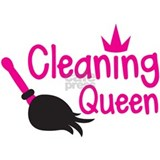 Pink cleaning queen with feather duster Small Mugs