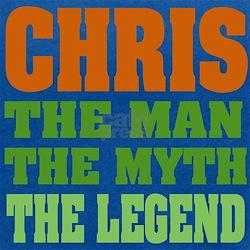 Chris The Legend Maternity Tank Top