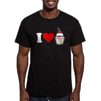 I Heart Cupcake Men's Dark Fitted T-Shirt