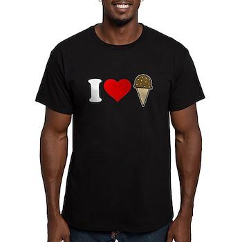 I Heart Ice Cream Cone Men's Dark Fitted T-Shirt