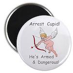 """Arrest Cupid 2.25"""" Magnet (100 pack)"""
