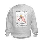 Arrest Cupid Kids Sweatshirt