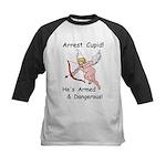Arrest Cupid Kids Baseball Jersey