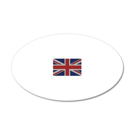 British Flag Tattered Wall Decal