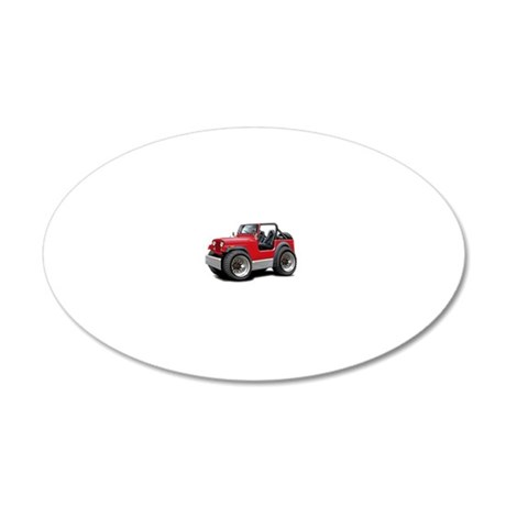 Jeep Red Wall Decal