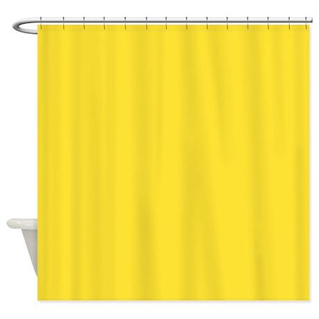 Solid Lemon Yellow Shower Curtain