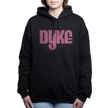 Pink Dyke Woman's Hooded Sweatshirt