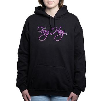 Fag Hag Woman's Hooded Sweatshirt