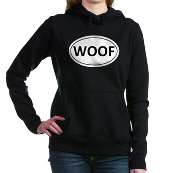 WOOF Euro Oval Woman's Hooded Sweatshirt