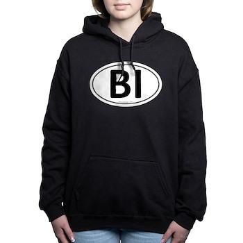 BI Euro Oval Woman's Hooded Sweatshirt