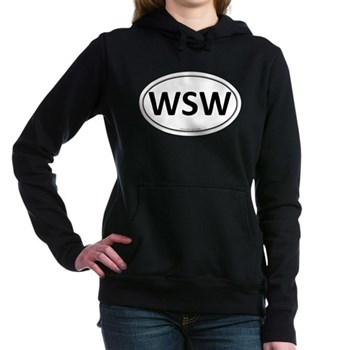 WSW Euro Oval Woman's Hooded Sweatshirt