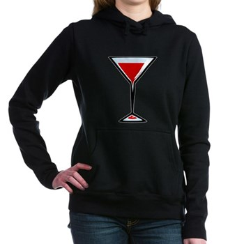 Vampire Martini Woman's Hooded Sweatshirt