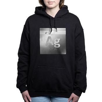 Silver (Ag) Woman's Hooded Sweatshirt