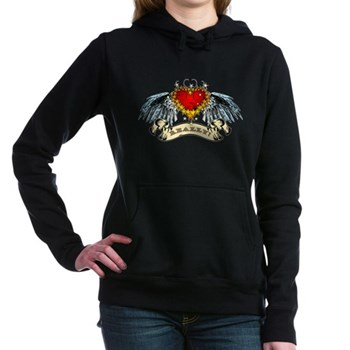 Really? Winged Heart Woman's Hooded Sweatshirt