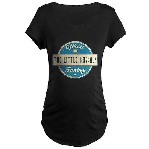 Official The Little Rascals Fanboy Dark Maternity T-Shirt