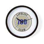 Lifelist Club - 700 Wall Clock
