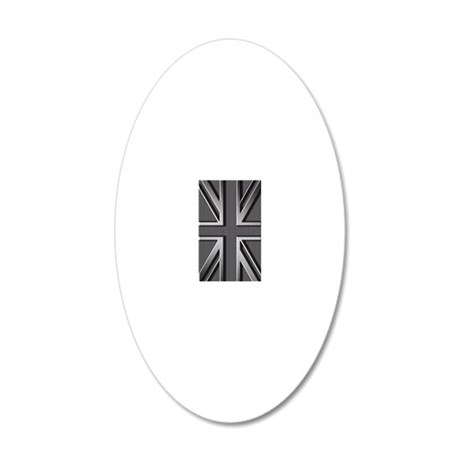 Union Jack Brushed Metal Wall Decal