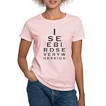 Birding Eyechart Women's Light T-Shirt