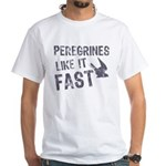 Peregrines Like It Fast White T-Shirt