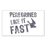 Peregrines Like It Fast Sticker (Rectangle)