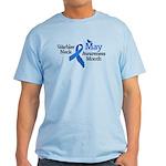May Warbler Neck Awarness Month Light T-Shirt
