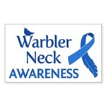Warbler Neck Awareness Sticker (Rectangle)