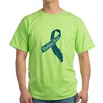 Warbler Neck Feather Ribbon Green T-Shirt
