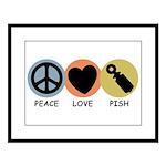 Peace Love Pish Large Framed Print