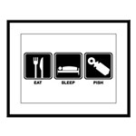 Eat Sleep Pish Large Framed Print