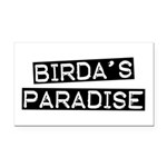 Birda's Paradise Rectangle Car Magnet